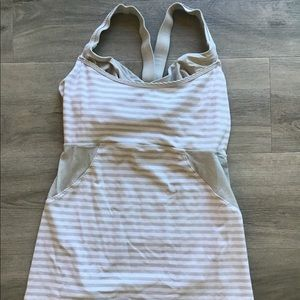Lululemon Striped Exercise Tank Top